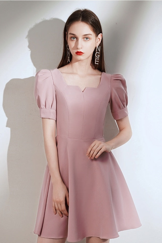Simple Style Vintage Short Zipper Back Homecoming Dresses Cute Dress B0003