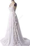 New Arrival Bohemian Spaghetti Straps Beach Wedding Dresses With Adjustable Drawstring B0010