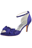 Purple High Heels Wedding Shoes, Peep Toe Wedding Party Shoes, Woman Shoes