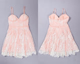 Sexy A-Line Spaghetti Straps Tulle Short Homecoming Dresses with Lace Appliques,Mini Dress,N298