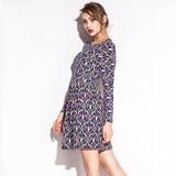 Pattern Lycra Stretch Fabric Waist Wrinked Cotton dress