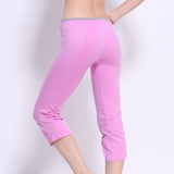 Gym and Outdoor Running Seamless Nylon Sports Pants Trousers