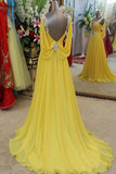 Charming Backless Long Chiffon Prom Dress E5