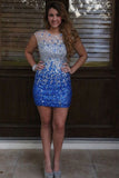 Beading Sheath Short Prom Dress Homecoming Dress E8