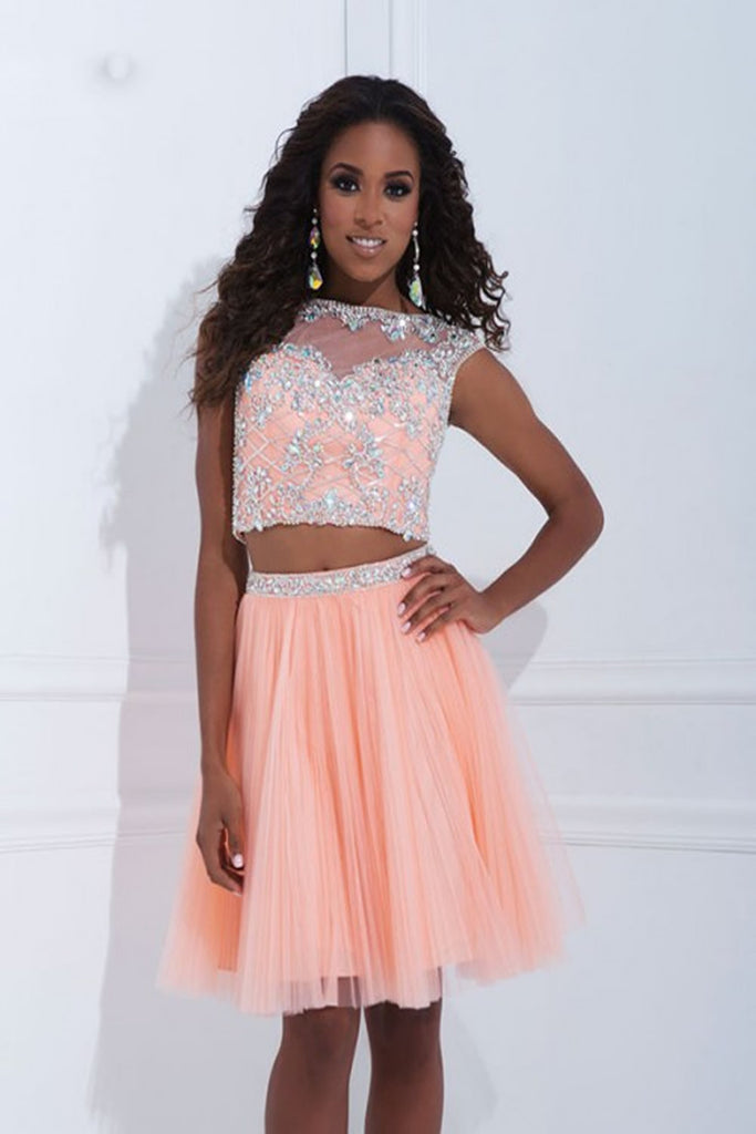 Two Pieces Tulle Short Prom Dress Homecoming Dress E04