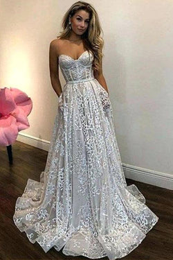 Vintage Ivory Sweetheart Wedding Dress Lace Beautiful Cheap Lace Wedding Dress N1696