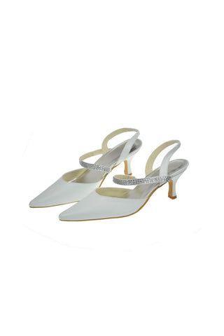 Close Toe Woman Shoes With Beading Wedding Shoes L-010