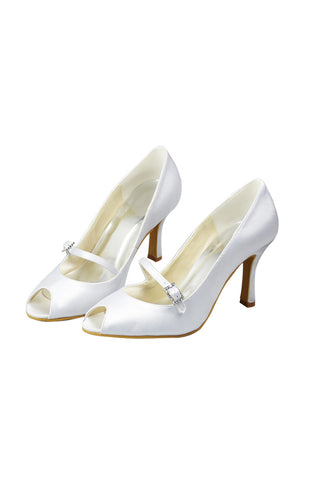 Wedding Party Shoes Peep Toe Woman Shoes Hand Made L-23