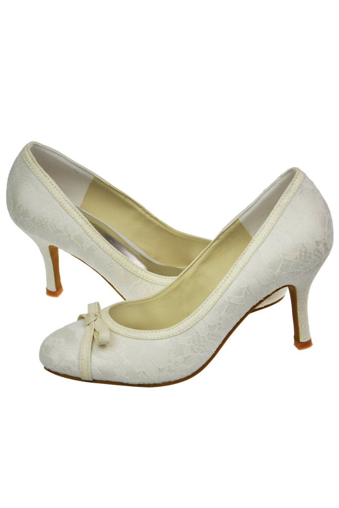 Hand Made Woman Shoes Lace Wedding Party Shoes L-029