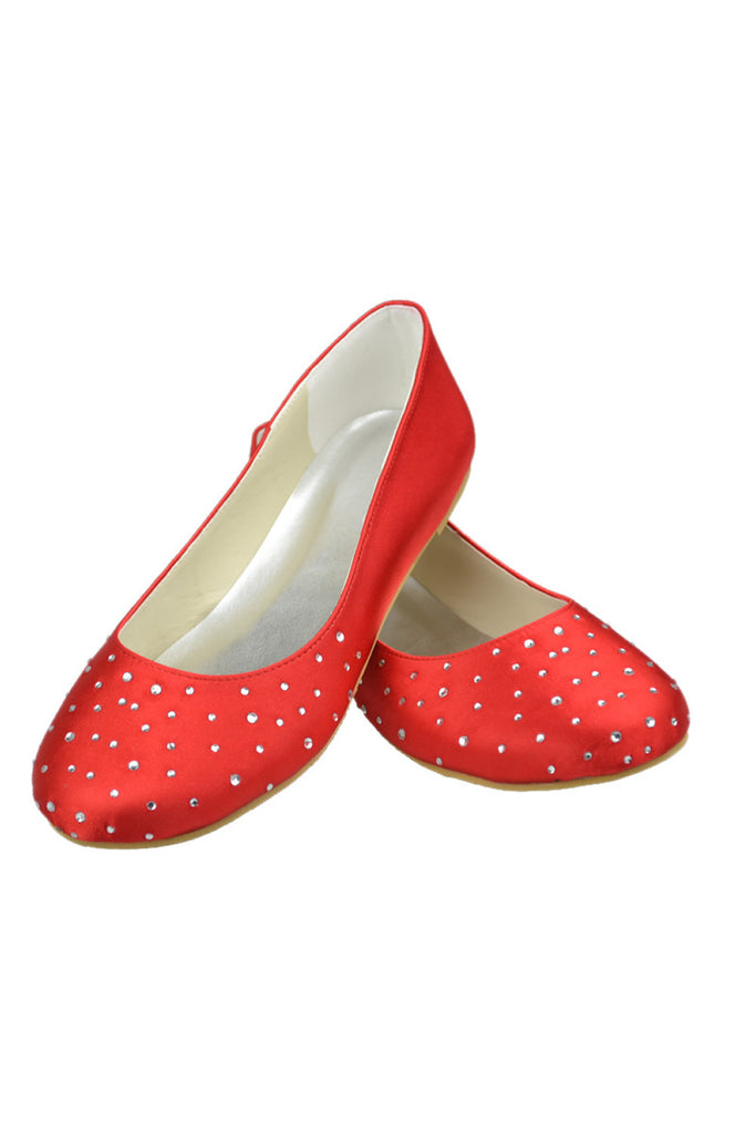 Hand Made Close Toe Flats Wedding Party Shoes L-030