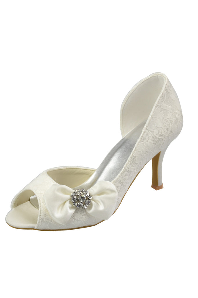 New Arrival Lace Wedding Party Shoes Woman Shoes L-042