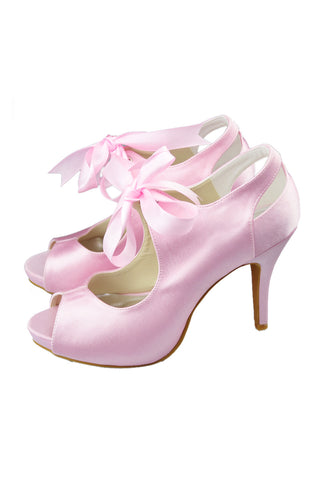 Fashion Woman Heels Peep Toe Weeding Party Shoes L-048
