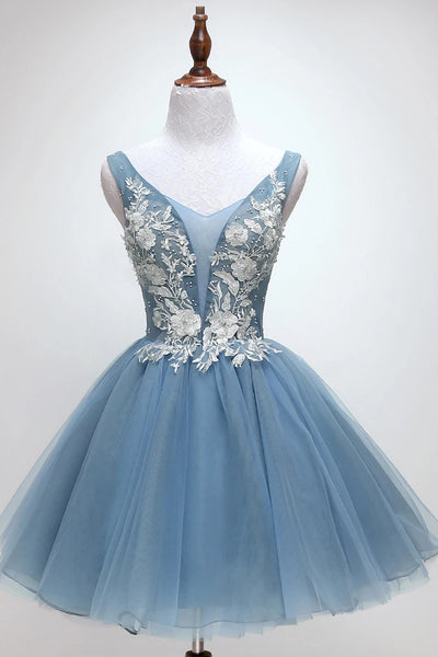 Gorgeous New Style Lace Applique Formal Dress Beaded Homecoming Dresses N1953
