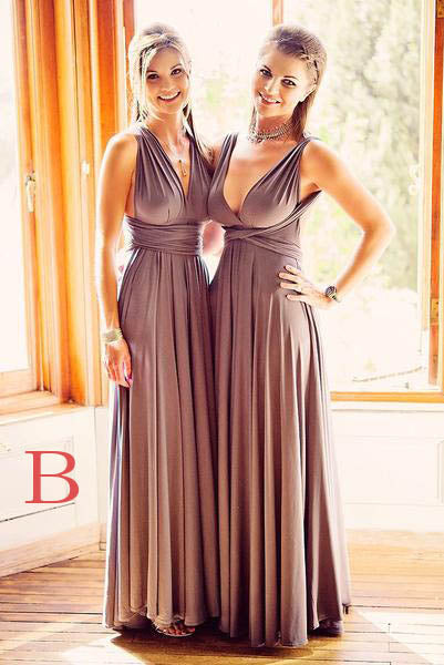 Unique Emerald Floor length Sleeveless Bridesmaid Dresses,Long Prom Gowns,N393