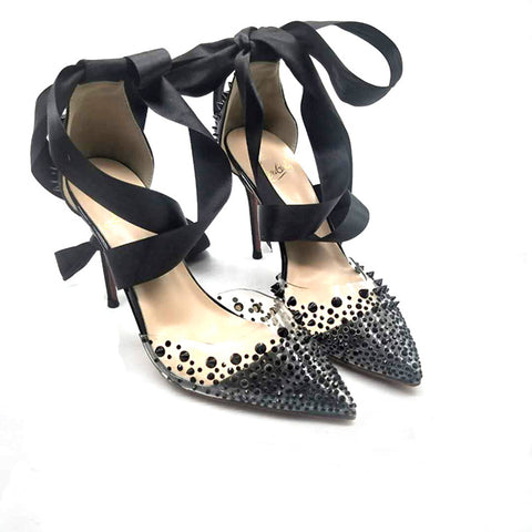 High-heels with lace, Fashion Evening Party Shoes, yy36