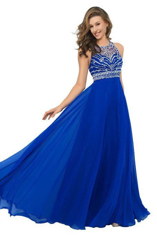 Real Made Royal Blue Long Prom Dress Evening Dress ED45