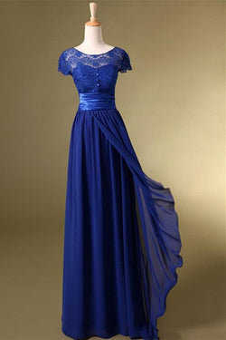 Royal Blue Long Charming Prom Dress/Evening Dress SD02