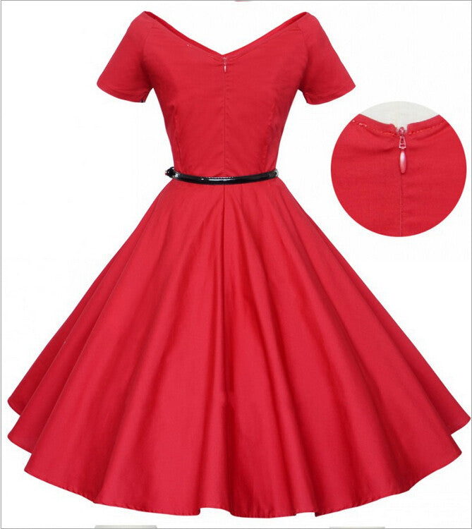 New Arrival Vintage High Waist Dress For Women SD12