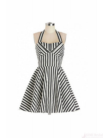 1950's Halter Print Sleeveless Dress For Women SD19
