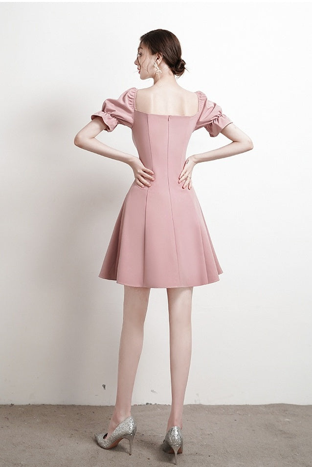 Soft Vintage Short Homecoming Dresses Simple Style Party Dresses Y0004