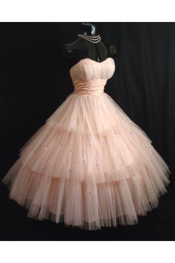 Princess Sweetheart Tulle Knee Length Homecoming Dress, Puffy Strapless Short Prom Dress N1067