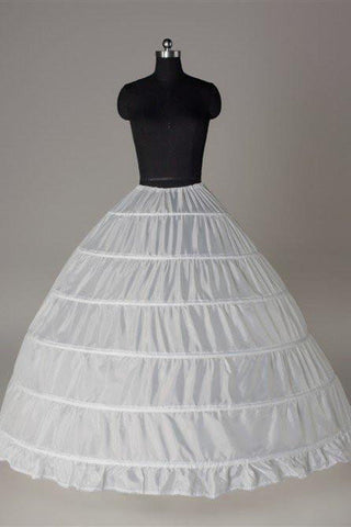 Fashion Wedding Petticoat Accessories White Floor Length Big Underskirt