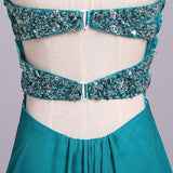 f93c338f59 ... Ombre Sweetheart Long Chiffon Prom Dress with Sequins