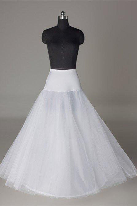 Fashion Wedding Petticoat Accessories White Underskirt Floor Length P002