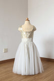 Hot Beautiful Sequin Straps Ivory Tulle Floor Length Flower Girl Dress F033