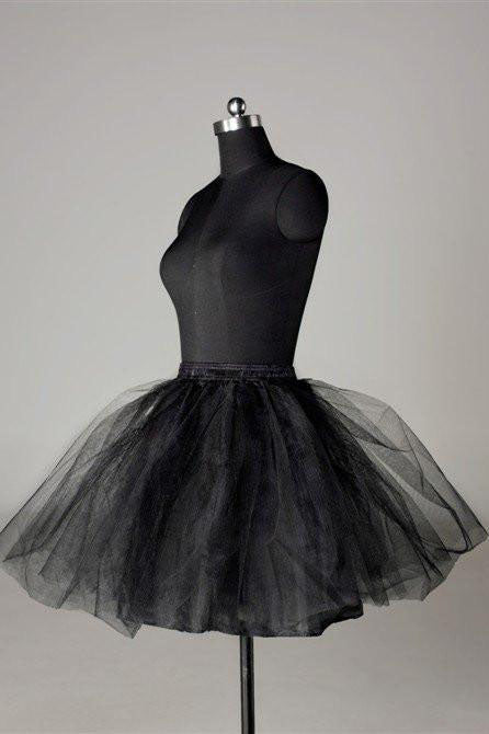 Fashion Short Wedding Dress Petticoat Accessories Black Short Underskirt P009