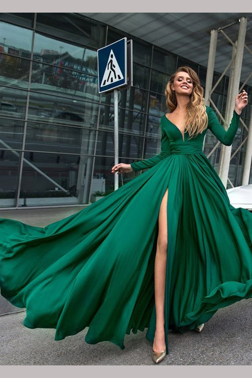 Sexy green dresses