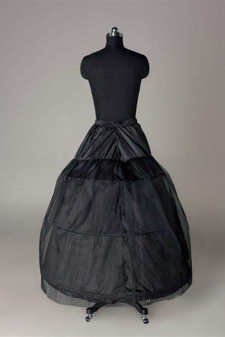 Long Wedding Petticoat Accessories Black Floor Length Underskirt P010