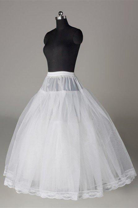 Fashion White Wedding Petticoat Accessories White Floor Length Underskirt P011