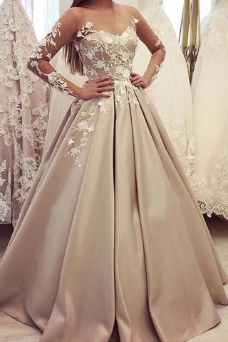 products/champagne_long_sleeves_sheer_neck_satin_prom_dress_with_appliques.jpg