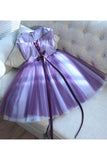 A Line Mini Sweetheart Homecoming Dress, Mini Strapless Juniors Homecoming Dresses N909