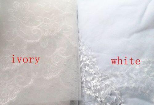 Simple Eyelash Lace Edge 90cm Bridal New Veil 1 Tier Bride Wedding Veil+Comb,V009
