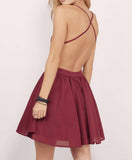 Spaghetti Straps Chiffon Short Homecoming Dress with Lace Top,Mini Grad Dress,N330