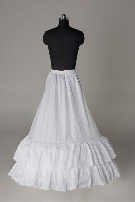 White Fashion Wedding Petticoat Accessories White Floor Length Underskirt P014