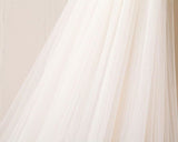 3M Long Lace Appliqued Cathedral Veil for Wedding, Romantic Bridal Veil V025