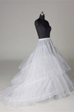 Floor Length White Petticoat, Long Fashion Cheap Underskirt Accessories P012