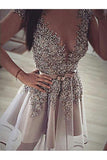 Short Cap Sleeves Sheer Neck Beading Homecoming Dress, Short Prom Dress N877