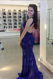Gorgeous Jewel Beading Mermaid Prom Dress, Trumpet Sleeveless Sweep Train Evening Dress