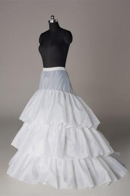 Fashion White Wedding Petticoat Accessories White Floor Length Underskirt P003