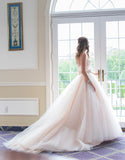Gorgeous Strapless Sweetheart Pleats Long Ball Gown Wedding Dress with Beading,N518