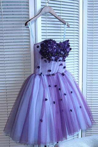 A Line Mini Sweetheart Homecoming Dress, Mini Strapless Juniors Homecoming Dresses