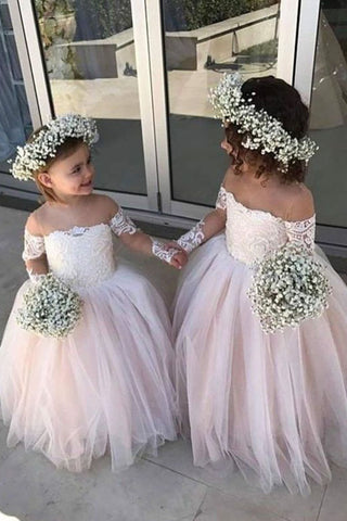 fe34d7dbc52 Adorable Long Sleeve Flower Girl Dresses