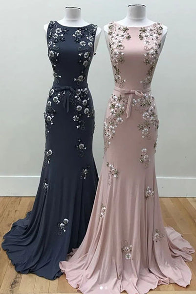 Mermaid Long Evening Dress with Beads, Gorgeous Prom Dress with Beading N2207