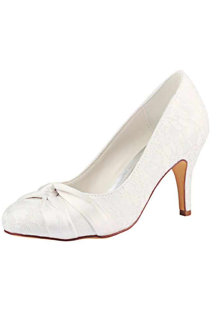 Ivory High Heels Wedding Shoes, Charming Wedding Party Shoes, Lace Woman Shoes