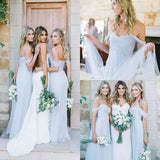 Sexy Cheap Light Blue Mismatched Different Styles Chiffon Bridesmaid Dresses,N511