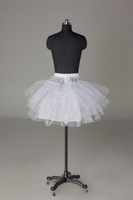 White Short Wedding Dress Petticoat Accessories Fashion White Underskirt P006